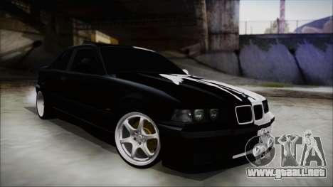 BMW M3 E36 Good and Evil para GTA San Andreas vista posterior izquierda