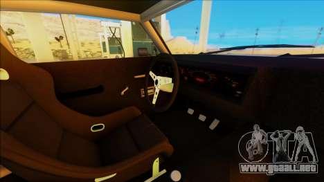 Sabre Race Edition para GTA San Andreas vista hacia atrás