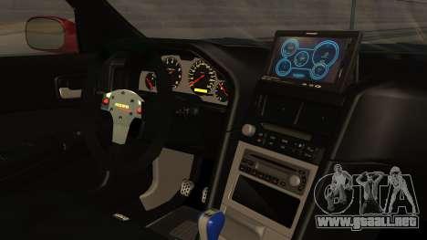 Nissan Skyline R34 FnF 4 v1.1 para la visión correcta GTA San Andreas