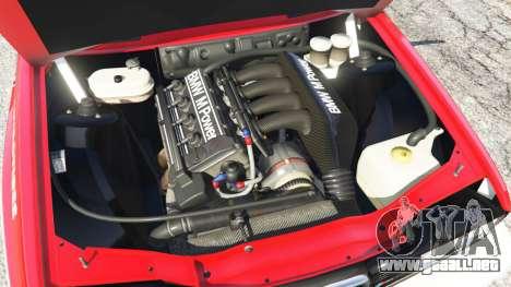 GTA 5 BMW M3 (E30) 1991 [Suei] v1.2 vista lateral trasera derecha