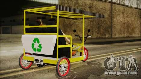 Bicitaxi Colombiano para GTA San Andreas left