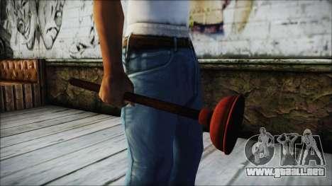 Plunger HD para GTA San Andreas segunda pantalla
