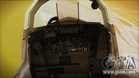 Mikoyan-Gurevich MIG-29A Russian Air Force para la visión correcta GTA San Andreas