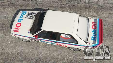 GTA 5 BMW M3 (E30) 1991 v1.2 vista trasera