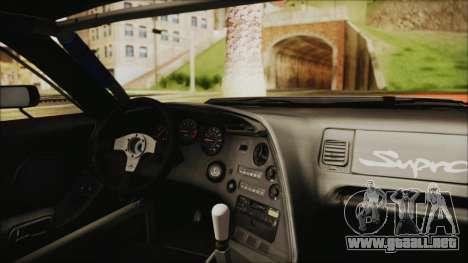 Toyota Supra JZA80 Kantai Collection Haruna PJ para GTA San Andreas vista hacia atrás