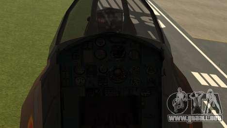 Mikoyan MiG-31 Yuktobanian Air Force para la visión correcta GTA San Andreas