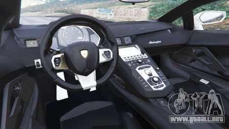 GTA 5 Lamborghini Aventador LP700-4 Dutch Police v5.5 vista lateral trasera derecha