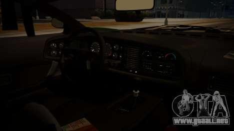 Jaguar XJ220 1992 FIV АПП para GTA San Andreas vista posterior izquierda