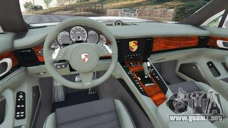 GTA 5 Porsche Panamera Turbo 2010 vista lateral trasera derecha
