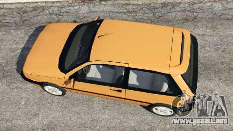 GTA 5 Fiat Tipo vista trasera