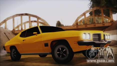 Pontiac Lemans Hardtop Coupe 1971 FIV АПП para GTA San Andreas