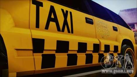 Albany Cavalcade Taxi (Hotwheel Cast Style) para la visión correcta GTA San Andreas