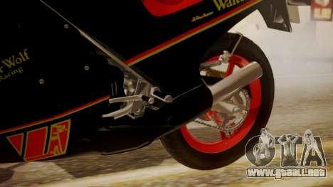 Suzuki RG 250G Walter Wolf para la visión correcta GTA San Andreas