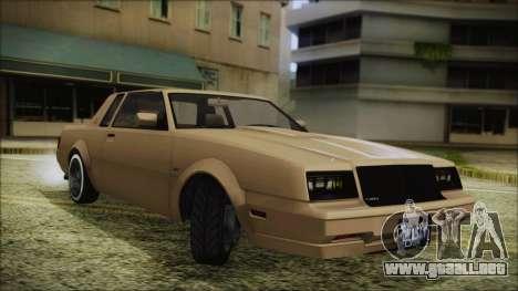 GTA 5 Willard Faction Custom Bobble Version para GTA San Andreas vista posterior izquierda