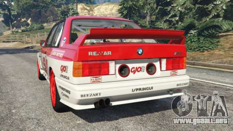 GTA 5 BMW M3 (E30) 1991 [Suei] v1.2 vista lateral izquierda trasera