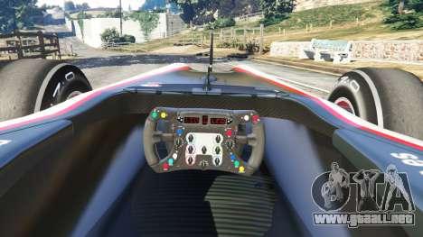 GTA 5 Hispania F110 (HRT F110) v1.1 vista lateral trasera derecha
