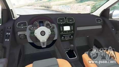GTA 5 Volkswagen Golf Mk6 v2.0 [Slipknot] vista lateral trasera derecha