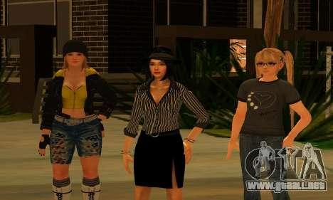 Womens Mega Pack by 7 Pack para GTA San Andreas segunda pantalla
