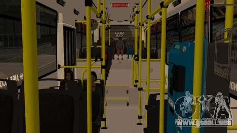 Todo Bus Agrale MT17.0LE AA para GTA San Andreas vista hacia atrás