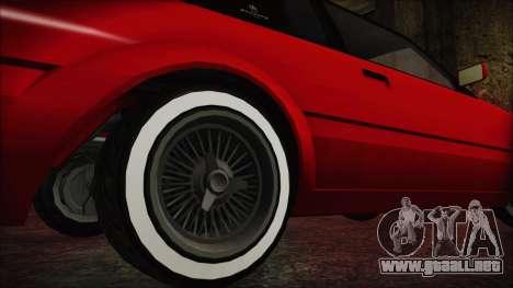 GTA 5 Willard Faction Custom without Extra IVF para GTA San Andreas vista posterior izquierda