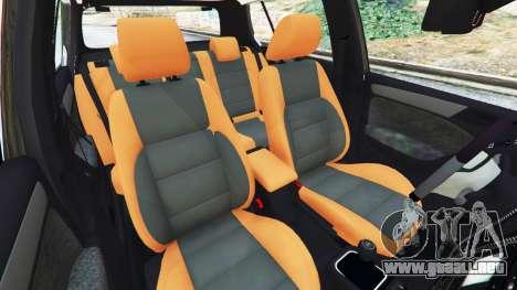GTA 5 Volkswagen Golf Mk6 Police vista lateral derecha