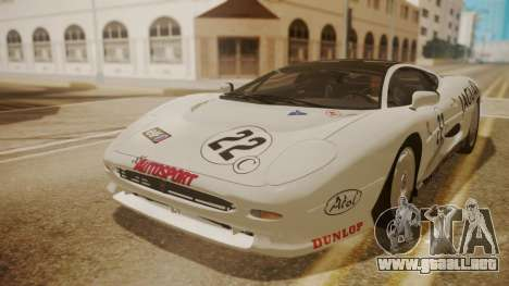 Jaguar XJ220 1992 FIV АПП para vista inferior GTA San Andreas