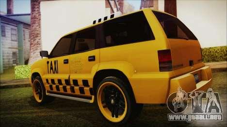 Albany Cavalcade Taxi (Hotwheel Cast Style) para GTA San Andreas left
