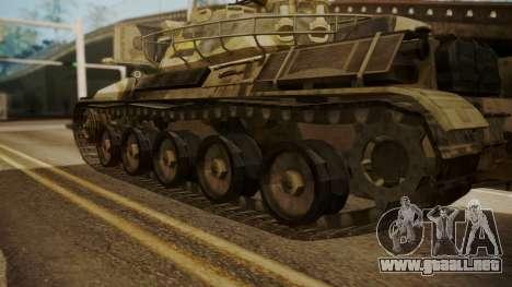 AMX 30 from Mercenaries 2 World in Flames para GTA San Andreas vista posterior izquierda