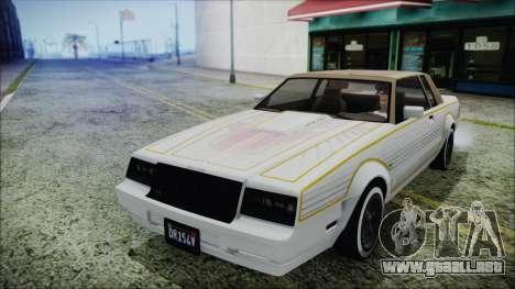GTA 5 Willard Faction Custom Bobble Version para GTA San Andreas vista hacia atrás