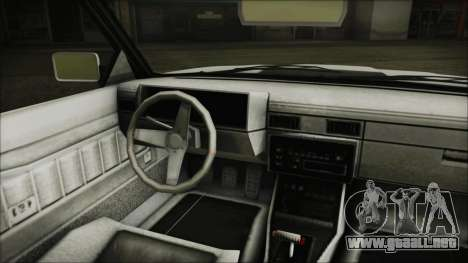 GTA 5 Willard Faction Custom without Extra Int. para GTA San Andreas vista posterior izquierda
