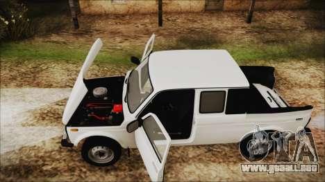 VAZ 2329 Niva 4x4 para GTA San Andreas vista hacia atrás
