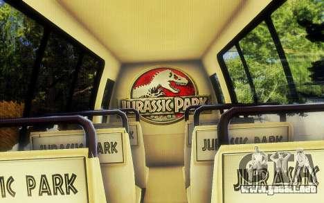 Jurassic Park Tour Bus para la visión correcta GTA San Andreas
