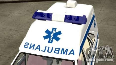 Daewoo-FSO Polonez de Carga de Ambulancias de 19 para GTA 4 vista superior