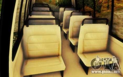 Jurassic Park Tour Bus para GTA San Andreas vista hacia atrás