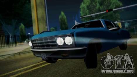 Declasse Low 1965 para GTA San Andreas vista posterior izquierda