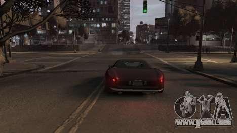 GTA V Stinger Classic para GTA 4 vista hacia atrás