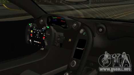 McLaren P1 GTR 2015 Yellow-Green Livery para la visión correcta GTA San Andreas