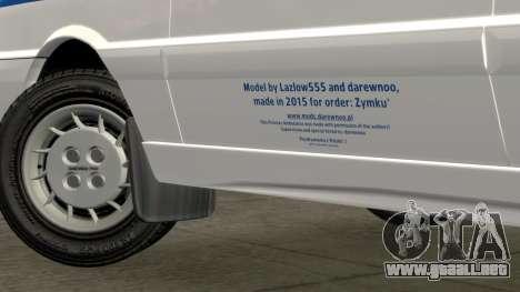 Daewoo-FSO Polonez de Carga de Ambulancias de 19 para GTA 4 vista hacia atrás