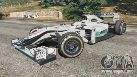 GTA 5 Mercedes-Benz MGP W01 [Michael Schumacher] v1.1 vista lateral derecha