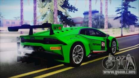 Lamborghini Huracan 610-4 GT3 2015 para GTA San Andreas left