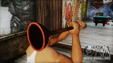 Plunger HD para GTA San Andreas tercera pantalla