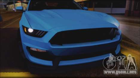 Ford Mustang Shelby GT350R 2016 para las ruedas de GTA San Andreas