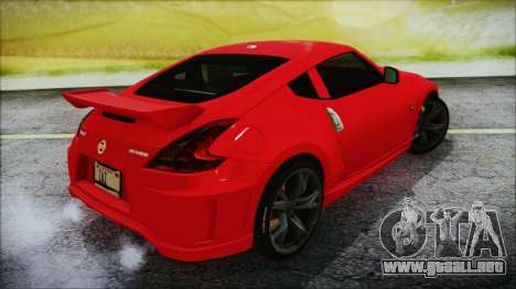 Nissan 370Z Nismo 2010 Angel Beats Itasha para GTA San Andreas left