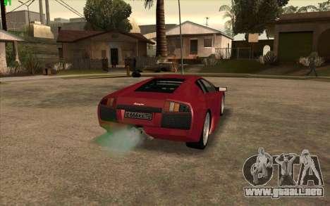 Lamborghini Murcielago para GTA San Andreas vista posterior izquierda