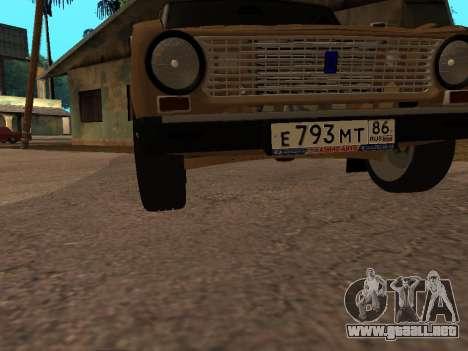 Vaz 2101 V1 para vista inferior GTA San Andreas