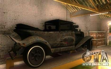 Albany Frenken Stange Rusty Edition para GTA San Andreas vista posterior izquierda