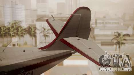 Grumman G-21 Goose N121GL para GTA San Andreas vista posterior izquierda