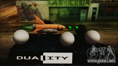 Duality Van - Furgoneta Duality para GTA San Andreas vista posterior izquierda