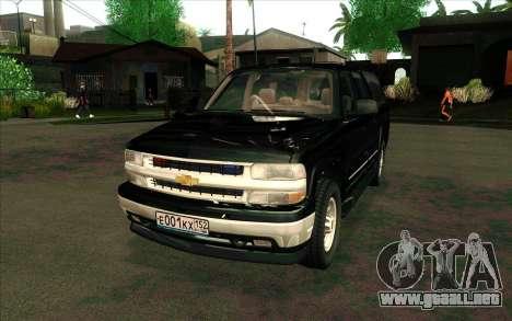 Chevrolet Suburban FSB para GTA San Andreas