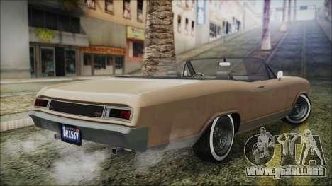 GTA 5 Albany Buccaneer Bobble Version IVF para GTA San Andreas left